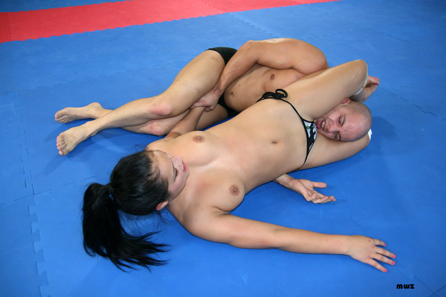 Domination mixed wrestling scissor submissions — 8